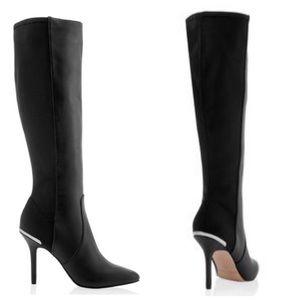 WHBM Stiletto Coralie Heeled Boots Black 8 Knee 8M